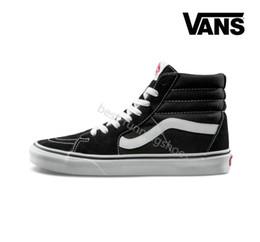 8ac8adcba 2018 VANS SK8-Hi Classic Old Skool Blanco Negro zapatillas de deporte Mujer  Hombre Alta lienzo bajo Skate Casual Zapatillas de deporte para hombre