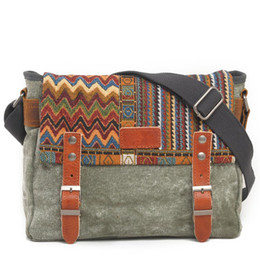 5b96e99ebbab Vintage Ethnic Canvas Messenger Bag Women Chinese Style Shoulder Female  Casual National Mujer Embroidery Crossbody Bag