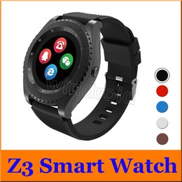 $enCountryForm.capitalKeyWord Australia - Smart Watch Z3 Watches Wristband Android Watch Smart SIM GSM Unlocked Mini Camera Intelligent Mobile Phone Sleep State With Retail Package