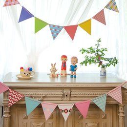 Discount Kids Party Backdrops 5sets Lot Small Paper Flags Polka Dot Flag Lovely Birthday