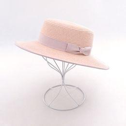 Paper Straws Hats NZ - Muchique Boater Hat 2017 Summer Sun Hats for Women Paper Straw Beach Hat Hot Fashion