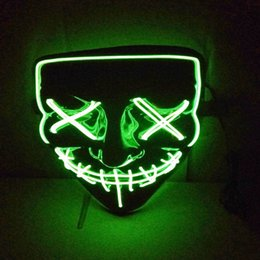 Mask For Face Glow NZ - Halloween Led Luminous Mask Horror Grimace Bloody Wire DJ Glowing Full Face Mask For Christmas Carnaval Party Club Bar
