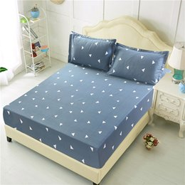 pink bedding sets for adults 2019 - Brief Style Geometric Bedding Sets 3pcs lot Polyester Sheet Pillowcase Sets For Kids Adults Fitted Bed Sheet Pillowcase
