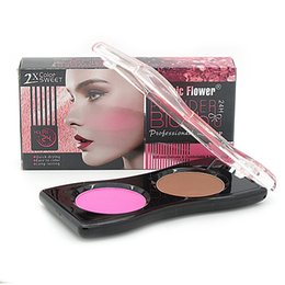 $enCountryForm.capitalKeyWord Australia - Music Flower Brand Face Makeup Blush Palette 2 Colors Facial Bronzer Cheek Cosmetics Silky Pigments Make Up Matte Magic Blusher Powder