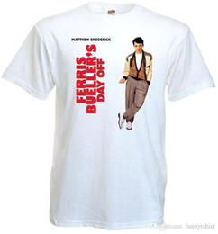 Ücretsiz kargo 2018 Ferris Bueller Günü Kapalı v.1 T-shirt beyaz poster tüm boyutları S ... 5XL Yüksek Kalite Casual Giyim indirimde