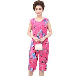 $enCountryForm.capitalKeyWord UK - Plus Size 3XL 4XL Women O-Neck Vest+Shorts 2PCS Nightwear 2018 Summer Sleepwear Set Cotton Pajamas Pyjama Suit Print Negligee