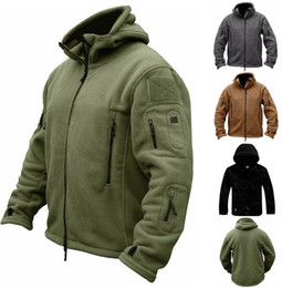 Wholesale Army Clothes NZ - Winter Military Tactical Coat Outdoor Softshell Fleece Jacket Men Army Polartec Sportswear Clothes Warm Casual Hoodie men' jackets GGA1028