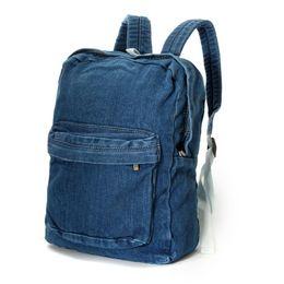 3e038154729 Canvas Denim Backpacks School Bags Girls Soft Jean Hand Washed Men Women  Casual Rucksack Mochilas Free Shipping