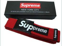 Kanye novo Vans belt designer marca venda quente moda casual casal cinto de lona cinto fivela lisa melhor qualidade frete grátis