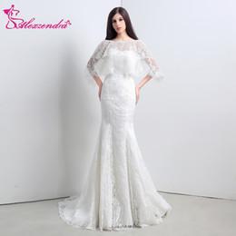 wholesale Stock Dresses Sweetheart Mermaid Lace Wedding Dress with Shawl  Elegant Bridal Gowns Ready to Ship 2db4768b2eb3