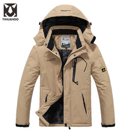Discount snow parkas men - Wholesale-Plus Size 5XL 6XL Winter Jacket Men Warm Parka Casual Men's Windbreaker Waterproof Snow Jackets Fleece Ve