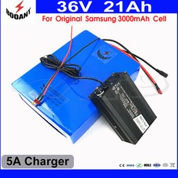 Motor Bicycles Australia - 1000W Bicycle Battery 36V 21AH For Bafang BBS Motor With 5A Charger Scooter Lithium Battery 36V For Original Samsung 18650 Cell