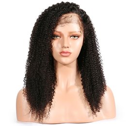 gluless human hair lace wig NZ - Gluless Curly Full Lace Wig Human Hair with Baby Hair For Black Women Pre Plucked Malaysian Remy 150% Density Lace Wig Full End