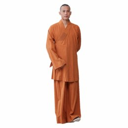 Chinese  ZanYing Zen Clothing Sets Monk Buddhist Outfit Long Shirt Wide Leg Pants ZYS267 manufacturers