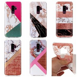 silicone cases for cell phones 2019 - Fashion Soft TPU IMD Case For Galaxy S9 Plus S8 S7 Note 8 A8 2018 Marble Cover Hybrid Natural Silicone Rock Stone Cell P