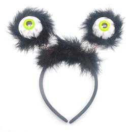 Head flasHing ligHt online shopping - Children Gag Hair Band Luminescence Eyeball Prop Tricky Horrible Head Hoop Flash Of Light Novelty Hairpin Toys zp W