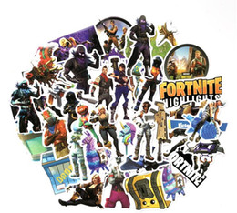 Wholesale 40pcs set Fortnite Games Stickers PVC Decals Waterproof Sticker for Laptop Luggage Scooter Laptop Car Wall sticker kids Gift Sets GGA741