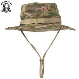Опт SINAIRSOFT тактический Airsoft снайпер камуфляж Boonie шляпы Непальский Cap мужская американский ведро широкий Брин ВС Hat ковбойские шапки для пеших рыбалки
