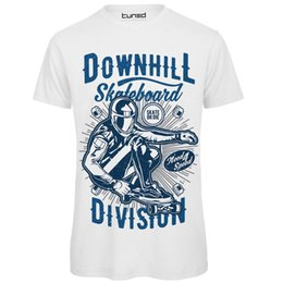 Venta al por mayor de Camiseta Divertente Uomo Maglietta Con Stampa Ironica Downhill Skateboard Tuned Impreso camiseta de los hombres de verano Top Tee