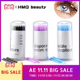 1f05c38744c 100Pcs pack Durable Micro Disposable micro brush Individual Lash Removing  Tools Swab Micro brushes Eyelash Extension Tools D18110902