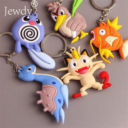 $enCountryForm.capitalKeyWord Australia - Anime Pvc Keychain Pocket Monsters Pikachu Charmander Squirtle Bulbasaur 3D Mini Figure Key Ring Dropship Eevee Gift