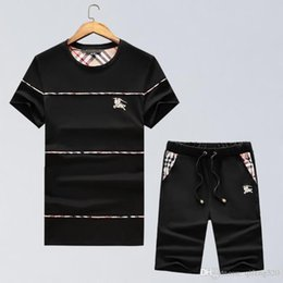 China 2018 NEW medusa Mens warrior Cartoon print top hiphop set drake bbc polo t-shirt +pants 100% Cotton suit embroidery Brand clothing cheap warriors clothes suppliers