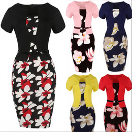 fc97363cb7cc Discount plus size office wear dresses ladies - Women Summer 4XL Plus Size  Elegant Floral Printed