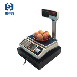 Discount cash registers weighing scale 1000 PLUs support thermal receipt printing with RJ11 port cash drawer together special for pos register system