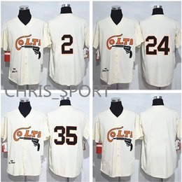 Houston Colts 1964 baseball Jerseys  2 Nellie Fox 24 Jimmy Wynn 35 Joe  Morgan cream player game uniform f363fc108