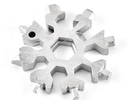 $enCountryForm.capitalKeyWord UK - 18 In 1 Multi-Tool Stainless Steel Snow Shape Flat Cross Head Screwdriver Allen Key Spanner Key Chain Multifunction Outdoor Tool SC121