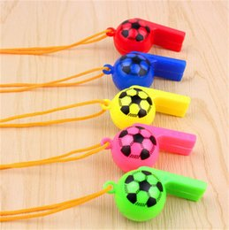 football cheerleading NZ - Hot sale Plastic Whistle Lanyard School Soccer Sport cheerleading Training Football The Classic Whistle Of Football Basket
