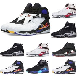 408a9501fa8eec Basketball shoes 8s white red Countdown Pack For men womens sneakers 8  black playoffs CHROME Aqua Three Peat atheitic Sports Shoe men 7-13
