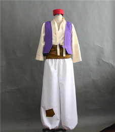 $enCountryForm.capitalKeyWord NZ - Anime Aladdin Lamp Prince Cosplay Costume XS 3XL Adult Halloween Costume for men Aladdin Costumes full set