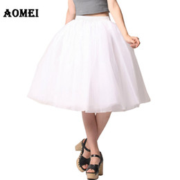 829acd71786 Long Plus Size Tutu Skirts NZ - Women White Princess Tulle Skirt Knee Length  Junior Girls