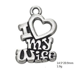 $enCountryForm.capitalKeyWord Australia - Word I Love My Wife Heart Charms Jewelry For Women