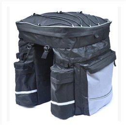 CyCle baCk online shopping - Equipment Bicycle Bag Back Pack Three In One Packs Saddle Bags Cycling Mountain Bike Rear Larger Capacity ql dd