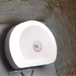 Plug wall lights uk online shopping - Multifunctional LED Light Bedside V Energy Saving Nightlight Light operated Sensor Bedroom Dual USB Wall Plate Charger US UK EU Plug Q0322
