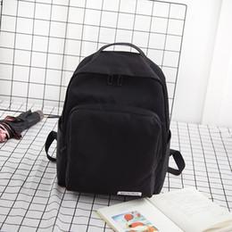 $enCountryForm.capitalKeyWord NZ - Newest Fashion Shoulder Bag Women Canvas Backpacks Large Capacity Computer Backbag High Quality Student School Bag Black Pink