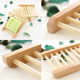 Wholesale Wood Soap Holder Wooden Soap Tray Storage Soap Rack Plate Box Container for Bath Shower Plate Bathroom
