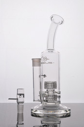 Stereo Matrix Australia - Mobius Glass bongs bubbler with double stereo matrix perc dab rig water pipes smoking pipe with 18mm joint