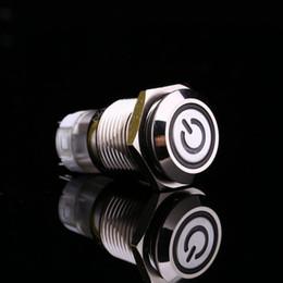 $enCountryForm.capitalKeyWord Australia - White Light Hot Car Auto Metal LED Power Push Button Switch Latching Type On-off 12V 16mm Waterproof