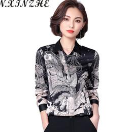 0c6e195d49e Discount men s office shirts - N.XINZHE Spring Man-made Silk Casual Blouse