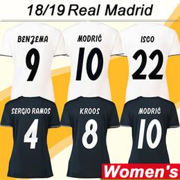 real madrid green uniform 2019 - 2018 19 Real Madrid Women MODRIC Soccer Jerseys New SERGIIO RAMOS KROOS BENZEMA MARCELO Home Away Football Shirts ISCO B