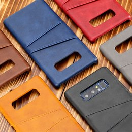 $enCountryForm.capitalKeyWord Canada - For Samsung S9 S9Plus PU Leather Phone Case Card Pocket Anti-Fingerprint Frosted Anti-Oil Card Slot Phone Cover For Samsung Note 8