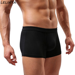 black boys boxer pants UK - LELINTA Sexy Mens Underwear Cute Boys in Boxers Elastic Fabric Gay Underwear for U Convex Pouch Pants Male Underpants Guys