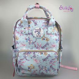 New Duffy Bear Friend Stellalou Rabbit Plush Backpack Kids Bags Cute Cartoon Primary School Bag For Children Girls Birthday Gift
