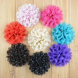 $enCountryForm.capitalKeyWord Australia - Wholesale Dot Flower Chiffon Headbands Lace Flowers Without Hair Clip Fashionable Headwear Flower Corsage 120pcs Lot Free Shipping F23