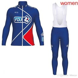 Discount jersey fdj - FDJ team Cycling long Sleeves jersey (bib) pants sets New women Fashion Bikes Clothes 100% Polyester Quick-Dry Ropa Cicl