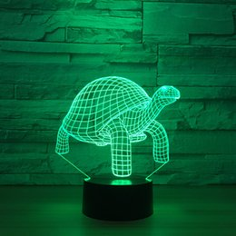 wedding candle cup 2019 - Turtle 3D Optical Illusion Lamp Night Light DC 5V USB Powered 5th Battery Wholesale Dropshipping Free Shipping cheap wed