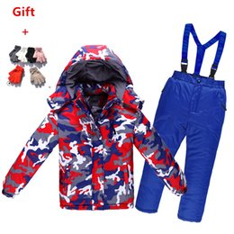 $enCountryForm.capitalKeyWord NZ - 2018 Winter Children Snowsuit Thick Warm Waterproof Windproof Breathable Boys Girls Cotton Snow Jacket And Overalls Pants 2pcs